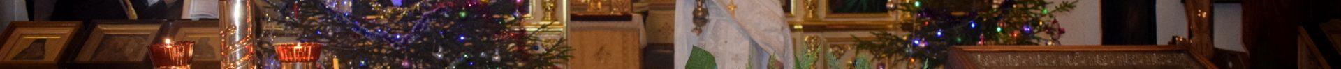 В праздник Рождества Христова благочинный Рогачевского церковного округа совершил Литургию в главном храме благочиния